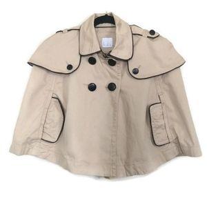 Lola by BCBG Max Azria Tan Cape Poncho Jacket